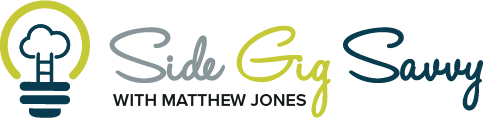 Logo for Side Gig Savvy with Matthew Jones